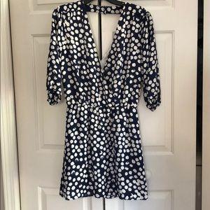 Deep V flowy Rebecca Minkoff dress